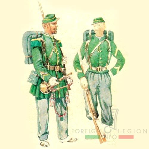 Second Foreign Legion - 2nd Legion - Swiss Legion - 1st Foreign Regiment - 1856-59 - Algeria - Chasseurs - Clairon