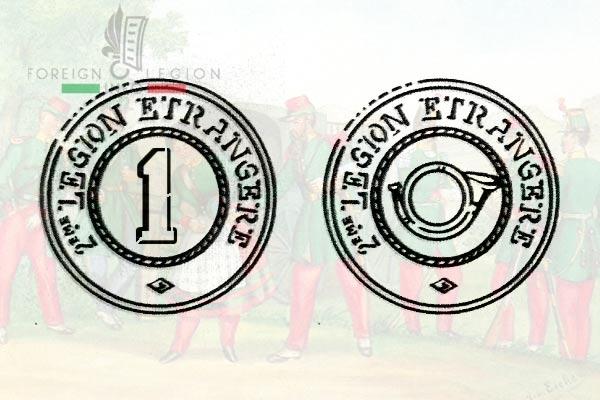 Deuxième Légion Etrangère - 2e Légion - Légion Suisse - Boutons