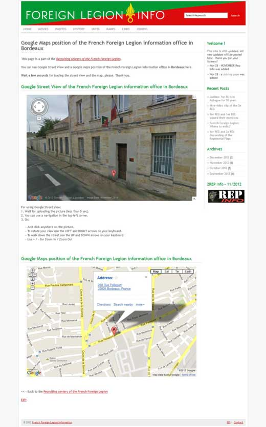Bordeaux recruiting center page