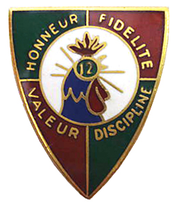 12e REI insignia - Valour and Discipline