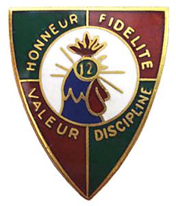 12e REI insignia - Valour and Discipline