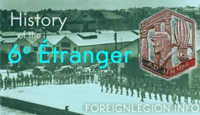 History of the 6th Foreign Infantry Regiment