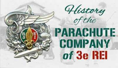History of the Parachute Company of 3e REI in Indochina