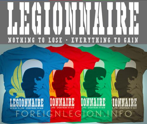 Get the Foreign Legion T-shirt: Legionnaire t-shirt