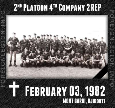 Mont Garbi - accident - Legion - Djibouti - 2nd Platoon - 4th Company - 2 REP - 2e REP