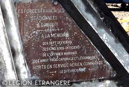 Mont Garbi accident - the monument plaque