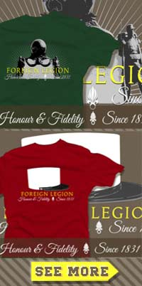 French Foreign Legion T-shirt - Legion Etrangere Tee-shirt - Fremdenlegion Shirt