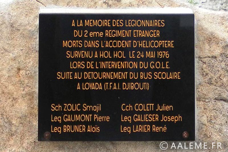 GOLE - Accident - Djibouti - 1976 - Plaque - Bonifacio