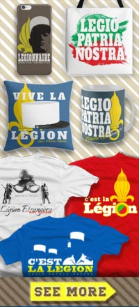 French Foreign Legion t-shirts, mugs, bags, iPhone cases - Legion Etrangere tee-shirt - Fremdenlegion Shirt