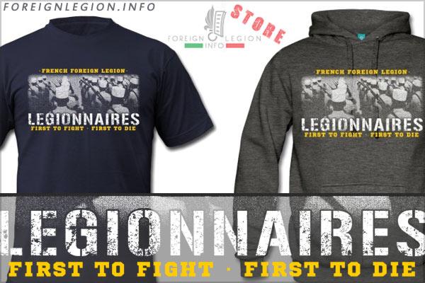 Legionnaires - Foreign Legion T-shirt - White kepi - Kepi blanc - Legion etrangere tee shirt