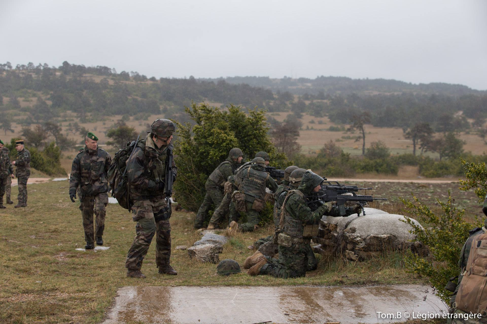 13e DBLE - Foreign Legion etrangere - Exercise with Spanish Legion 2017