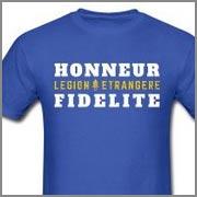 Legion Etrangere - Honneur - Fidelite - Tee - T-shirts