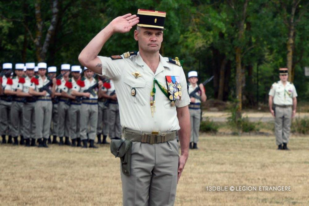 Colonel Pierre-Henri Aubry - 13e DBLE - 2020 Change of Command