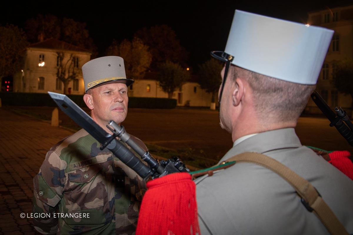 General Alain Lardet visiting the 2e REI