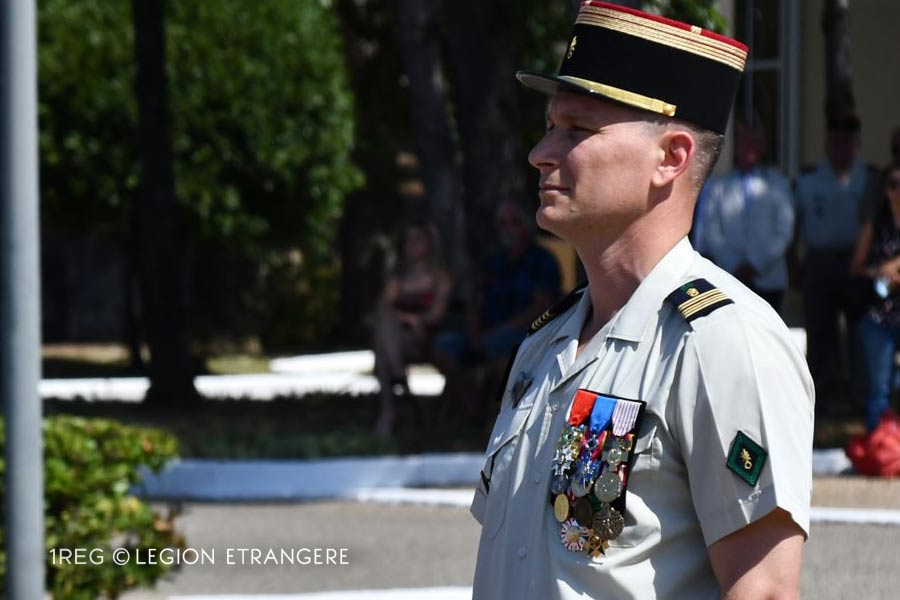 1st Foreign Engineer Regiment: 2021 Change of Command - Colonel François Perrier