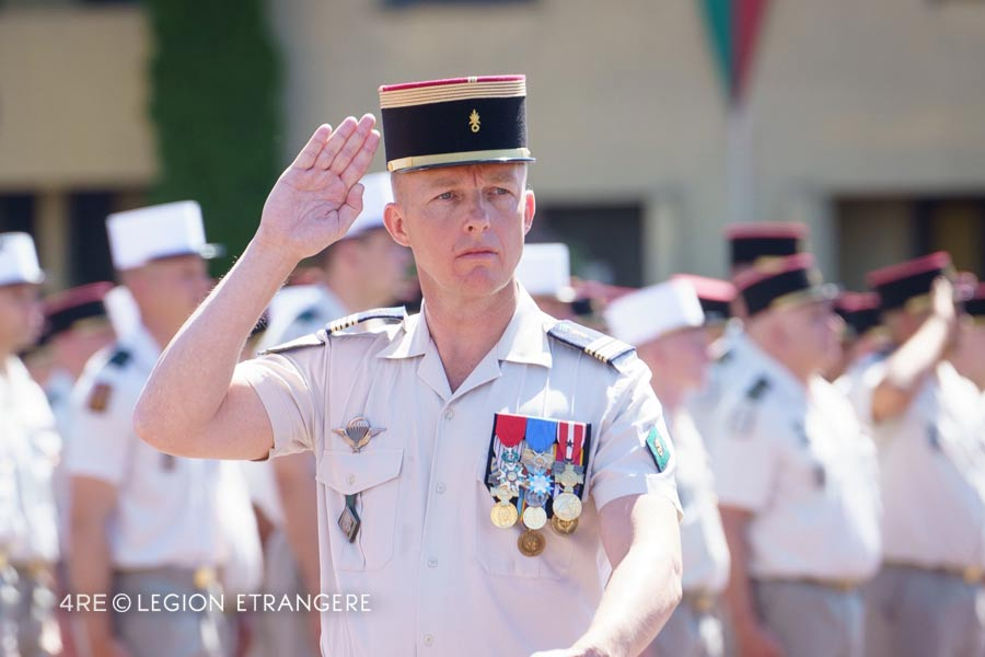 4th Foreign Regiment: 2021 Change of Command - Colonel Michaël Hamann