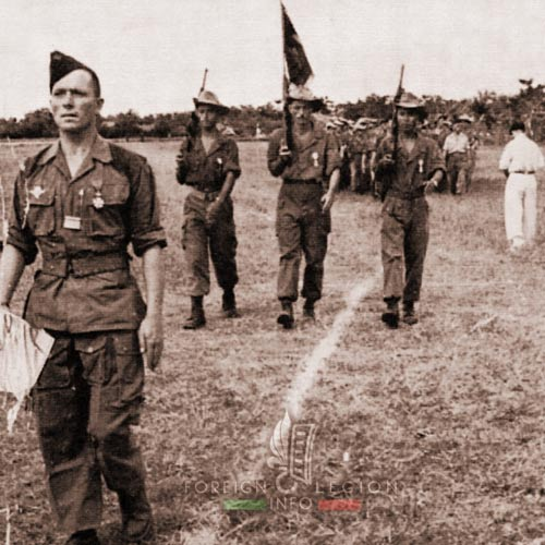 Major Raffalli - 2e BEP - 2 BEP - Fanion - Foreign Legion Etrangere - Indochina - 1951