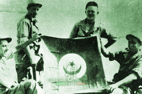 2e CSPL - 2 CSPL - Tunisia - rebel flag - Foreign Legion Etrangere - 1954