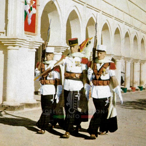 2e CSPL - 2 CSPL - Fanion Guard - Captain Le Berre - Camerone - Laghouat - Algeria - Foreign Legion Etrangere - 1959
