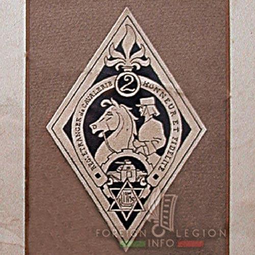 2e REC - 2 REC - Foreign Legion - Legion Etrangere - 1939 - Morocco - Insignia - Badge - Project
