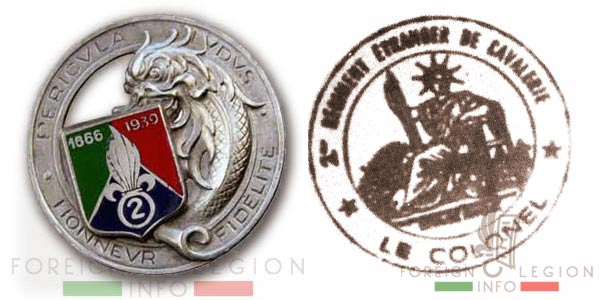 2e REC - 2 REC - Foreign Legion - Legion Etrangere - 1946 - Morocco - Insignia - Badge