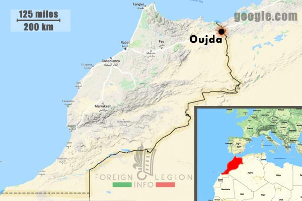 2e REC - 2 REC - Foreign Legion - Legion Etrangere - 1946 - Morocco - Oujda - Map