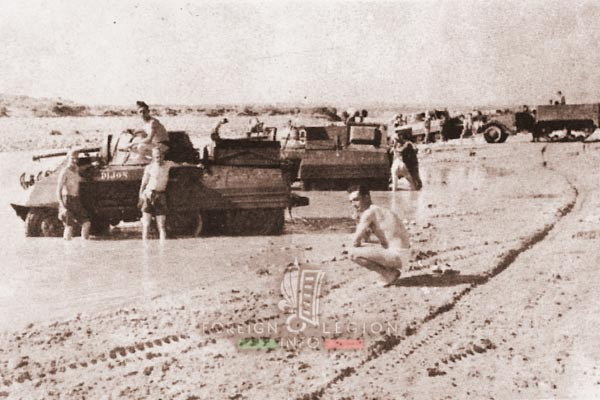 2e REC - 2 REC - Foreign Legion - Legion Etrangere - 1954 - Morocco - AMM8 - M8 Greyhound - M3 Half Track