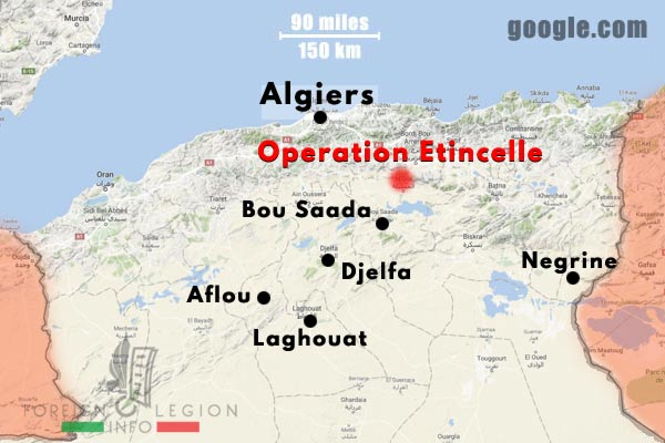 2e REC - 2 REC - Foreign Legion - Legion Etrangere - 1958-59 - Algeria - Operations - Map