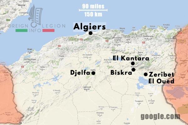 2e REC - 2 REC - Foreign Legion - Legion Etrangere - 1962 - Algeria - Installations - Map