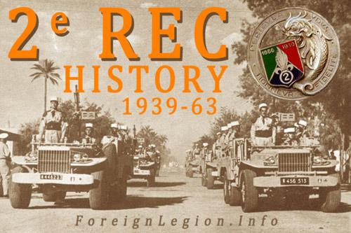 2nd Foreign Cavalry Regiment History - 2 REC - L'histoire du 2e Régiment Étranger de Cavalerie