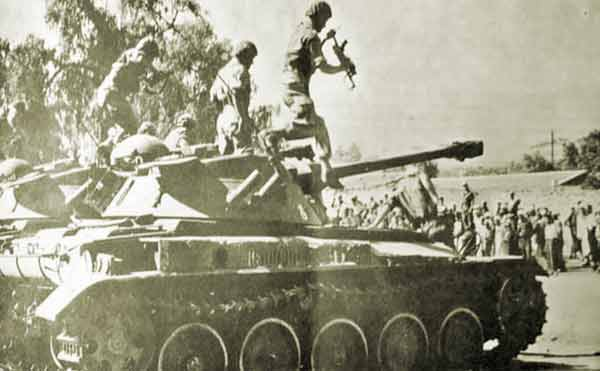 AMX of the 2e REC in Berkane in 1955