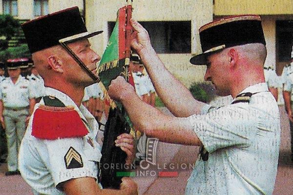 2e REG - 2 REG - Foreign Legion Etrangere - History - 1998 - Fanion - Pierre Sarzaud - Engineer Company - Compagnie de Genie - Castelnaudary