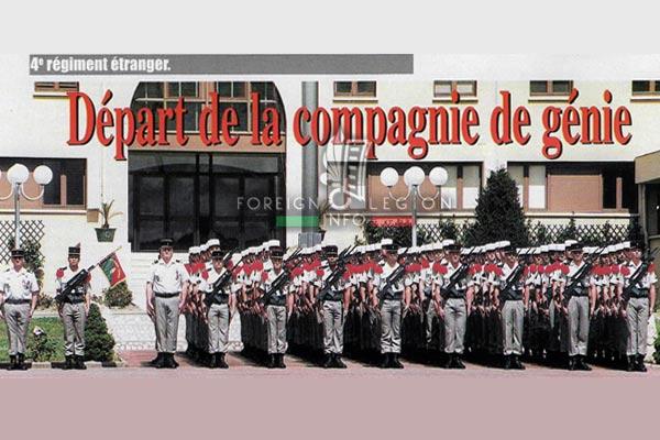 2e REG - 2 REG - Foreign Legion Etrangere - 1999 - Engineer Company - Compagnie de Genie - Depart - Castelnaudary - Djibouti