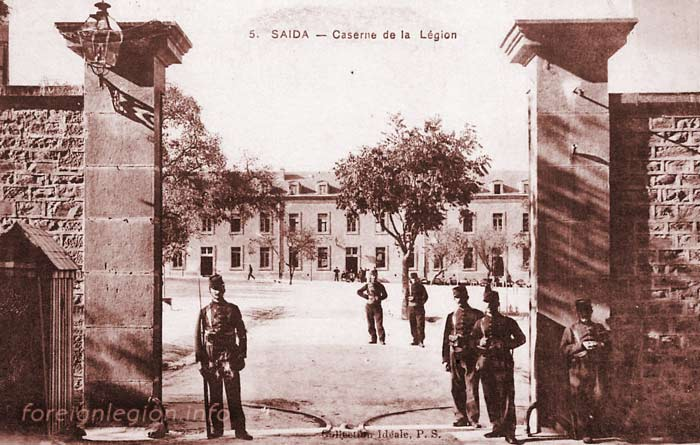 2 REI - 2REI - 2nd Foreign Infantry Regiment - 2nd REI - Legion - Algeria - Saida 1900
