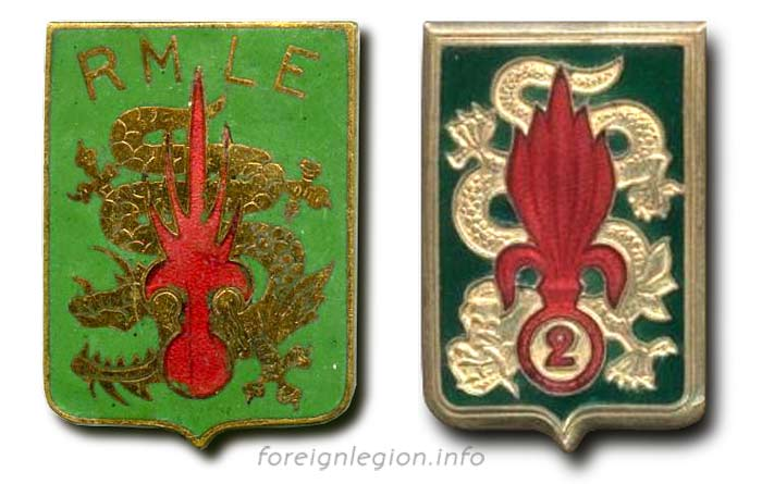 2 REI - 2REI - 2nd Foreign Infantry Regiment - 2nd REI - Foreign Legion - RMLE-EO - RMLE/EO - insignia - badge