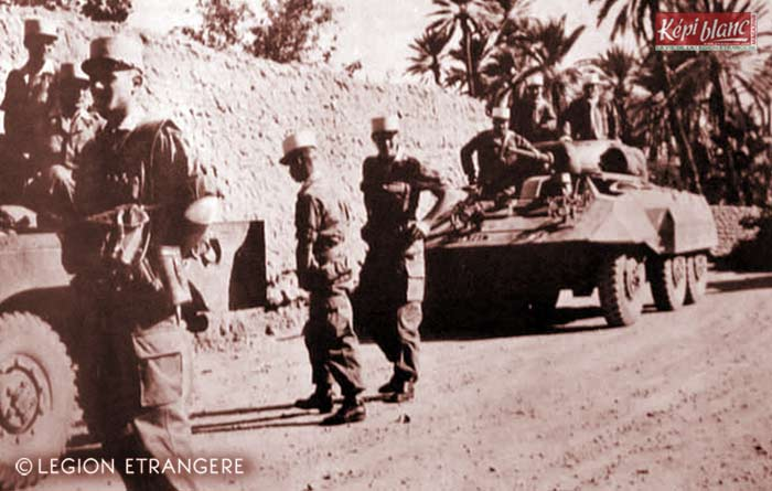 2 REI - 2REI - 2nd Foreign Infantry Regiment - 2nd REI - Legion - Algeria - AM M8 Greyhound 1956