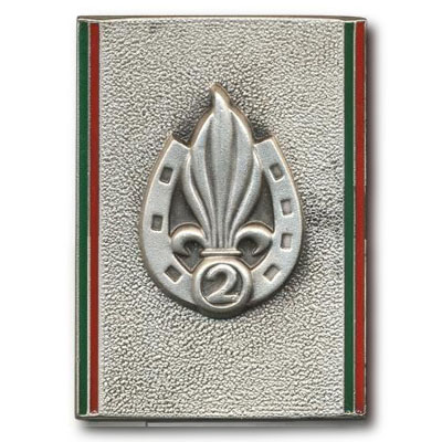 2 REI - 2REI - 2nd Foreign Infantry Regiment - 2nd REI - Legion - Insignia - Insigne - 1957