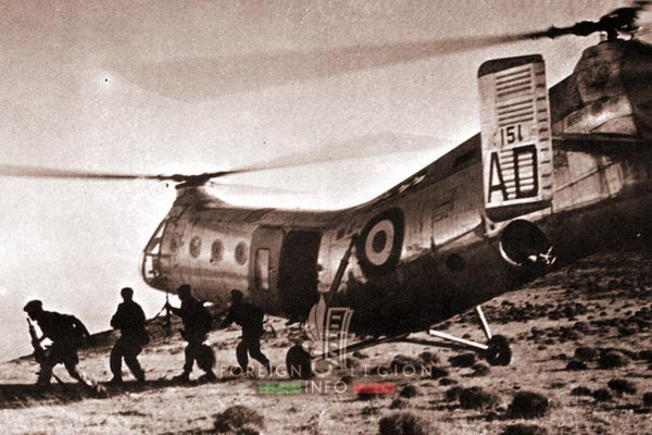 2e REP - 2 REP -  Foreign Legion Etrangere - Tebessa - Piasecki H-21 - 1957