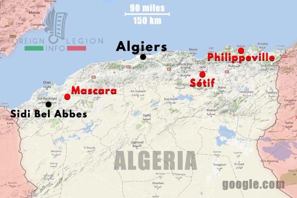 3e BEP - 3 BEP - Setif - Algeria - Map - 1949