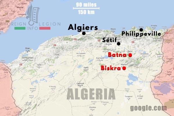 3e BEP - 3 BEP - Setif - Algeria - Map - 1954