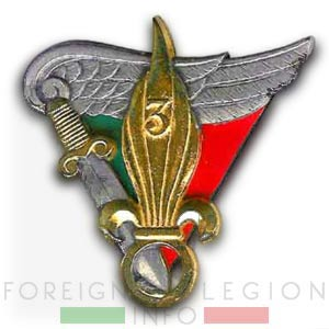 3e BEP - 3 BEP - Insignia - insigne - 1950