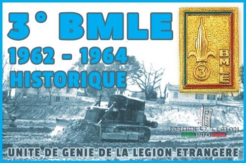 3e Bataillon de Marche de la Légion Etrangère - L'historique - 3e BMLE