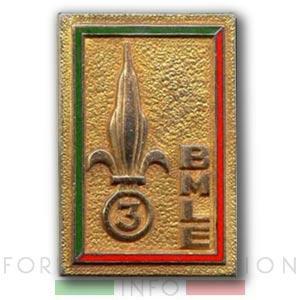 3e BMLE - 3 BMLE - Legion Etrangere - Insigne - 1962