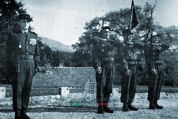 3e BMLE - 3 BMLE - Foreign Legion - France - 1964 - Aubagne - Fanion - Halftermeyer