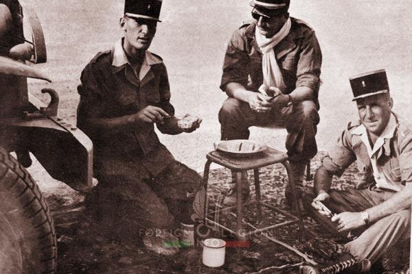 3e CSPL - 3 CSPL - Lieutenants - Fezzan - Libya - Foreign Legion Etrangere - 1954