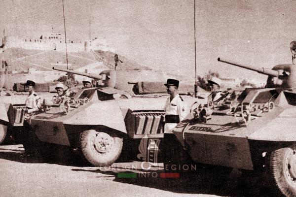 3e CSPL - 3 CSPL - AMM8 - M8 Greyhound - Armored Platoon - Libya - Foreign Legion Etrangere - 1955