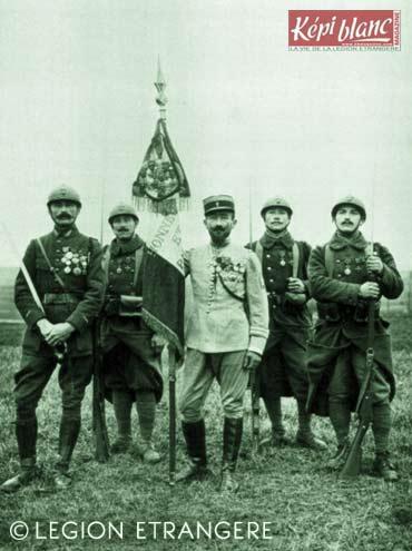 RMLE - Colonel Rollet - Régiment de Marche de la Légion Etrangère - 1917