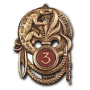 3 REI - 3REI - 3rd Foreign Infantry Regiment - 3rd REI - Legion - Morocco - 3e REI insignia 1928