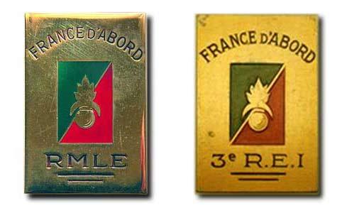RMLE - Régiment de Marche de la Légion Etrangère - Legion - 3 REI - 3rd Foreign Infantry Regiment - 3rd REI insignia 1943