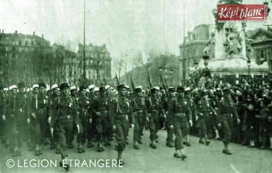 RMLE - Régiment de Marche de la Légion Etrangère - Legion - 3 REI - Paris 1945